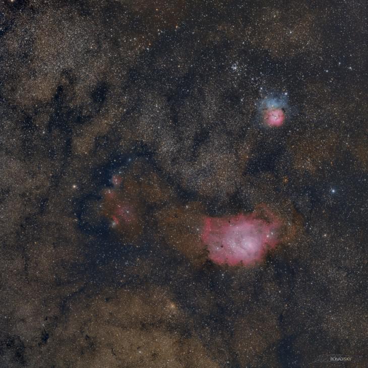 Лагуна и Трёхчастная M 8_20